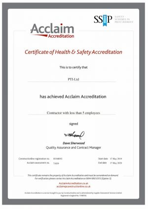 Acclaim Accreditation Valid until 17th May 2020