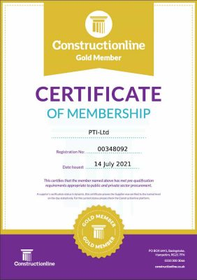 Constructionline Gold Certificate July 2021